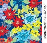 abstract flower seamless...   Shutterstock .eps vector #130564427