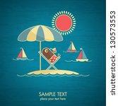 vacation card | Shutterstock .eps vector #130573553