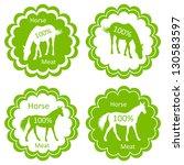 organic farm horse meat food... | Shutterstock .eps vector #130583597