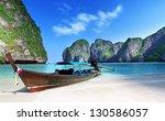 maya bay phi phi leh island ...   Shutterstock . vector #130586057