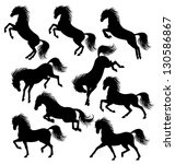 set of a moving horse... | Shutterstock .eps vector #130586867