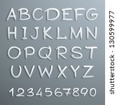 handwritten alphabet with... | Shutterstock .eps vector #130599977