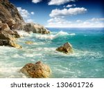 Rock and sea - stock photo