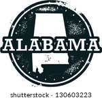 Vintage Style Alabama USA State Stamp