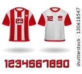 soccer jerseys vector clip art | Shutterstock .eps vector #130618547