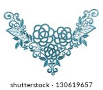 Embroidered Lace Trim Isolated...