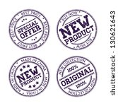 rubber stamps collection | Shutterstock .eps vector #130621643