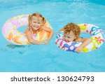 little girl and little boy... | Shutterstock . vector #130624793