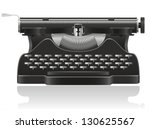 old typewriter vector... | Shutterstock .eps vector #130625567
