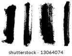 grungy brush strokes set | Shutterstock .eps vector #13064074