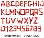 color photograph of alphabet of ... | Shutterstock . vector #130648823
