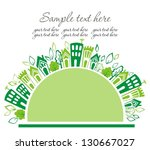 green and clean ecology earth | Shutterstock .eps vector #130667027