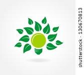 green eco lamp simple | Shutterstock .eps vector #130670813