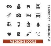 medicine icons set  vector | Shutterstock .eps vector #130680953