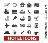 hotel icons set, vector - stock vector