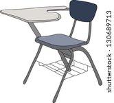 school desk   Shutterstock .eps vector #130689713