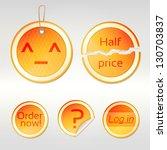 round vector sticker set as... | Shutterstock .eps vector #130703837