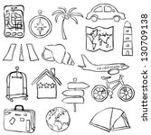 travel sketch images - stock vector