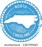 Vintage Style North Carolina USA State Stamp - stock vector
