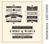 Retro Weddings Invitations   Shutterstock vector #130710443