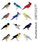 Birds Of Spring. Eps 8 Vector ...