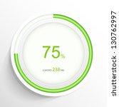 web preloader. download bar.... | Shutterstock .eps vector #130762997