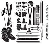 Skiing Gear Set   Assortment O...