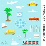 set many colorful isolated... | Shutterstock . vector #130766123