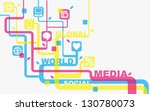 vector background with social... | Shutterstock .eps vector #130780073