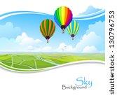 Hot Air Balloons   Blue Sky An...