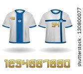 sport jerseys with numbers... | Shutterstock .eps vector #130800077