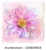 pink flower with dew drops | Shutterstock .eps vector #130804853