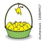illustration of many cute... | Shutterstock .eps vector #130809917