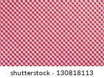 Red Checkered Fabric Closeup  ...