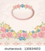 greeting card. vintage... | Shutterstock .eps vector #130834853