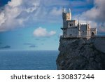 Swallow's Nest castle located in Crimea, Ukraine - stock photo