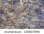 old weathered grunge oriented strand board background - stock photo