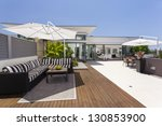 Luxurious penthouse balcony - stock photo