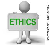 ethics sign shows values... | Shutterstock . vector #130858487