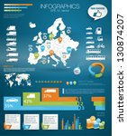 Detail infographic vector illustration with. Map of world and Map of Europe, car infographics and Information Graphics. Paper Style. Higth quality. Easy to edit country - stock vector
