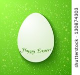 Paper Card Easter Eggs On Gree...