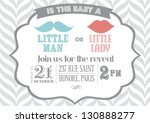 reveal the gender baby shower... | Shutterstock .eps vector #130888277