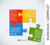 four parts puzzle | Shutterstock .eps vector #130893137