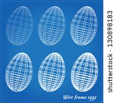 wire frame eggs with varying... | Shutterstock . vector #130898183