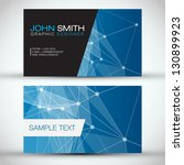 blue modern business card set   ... | Shutterstock .eps vector #130899923