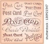 vintage postcard lettering... | Shutterstock .eps vector #130921547