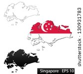 maps of singapore  3... | Shutterstock .eps vector #130931783