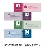 modern vector design template.... | Shutterstock .eps vector #130954943