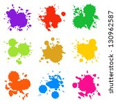 set of colorful abstract drops  ... | Shutterstock .eps vector #130962587
