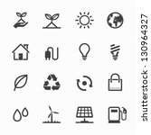 ecology icons with white... | Shutterstock .eps vector #130964327
